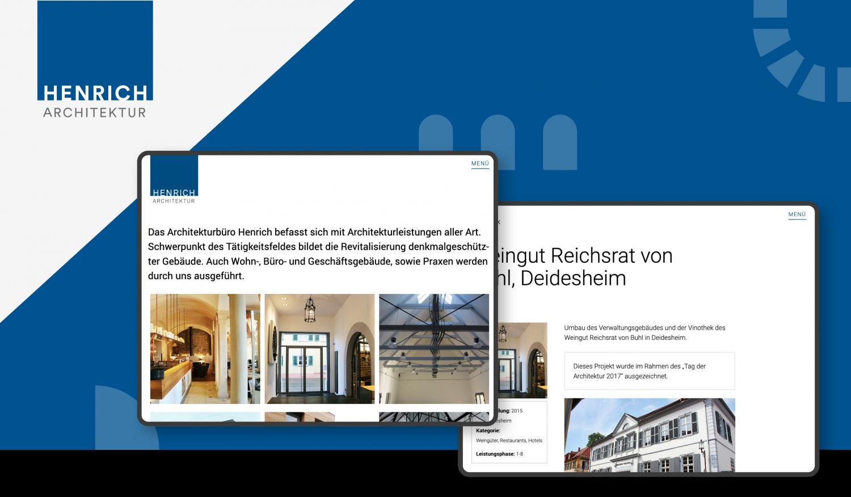 Webdesign Architekt Henrich