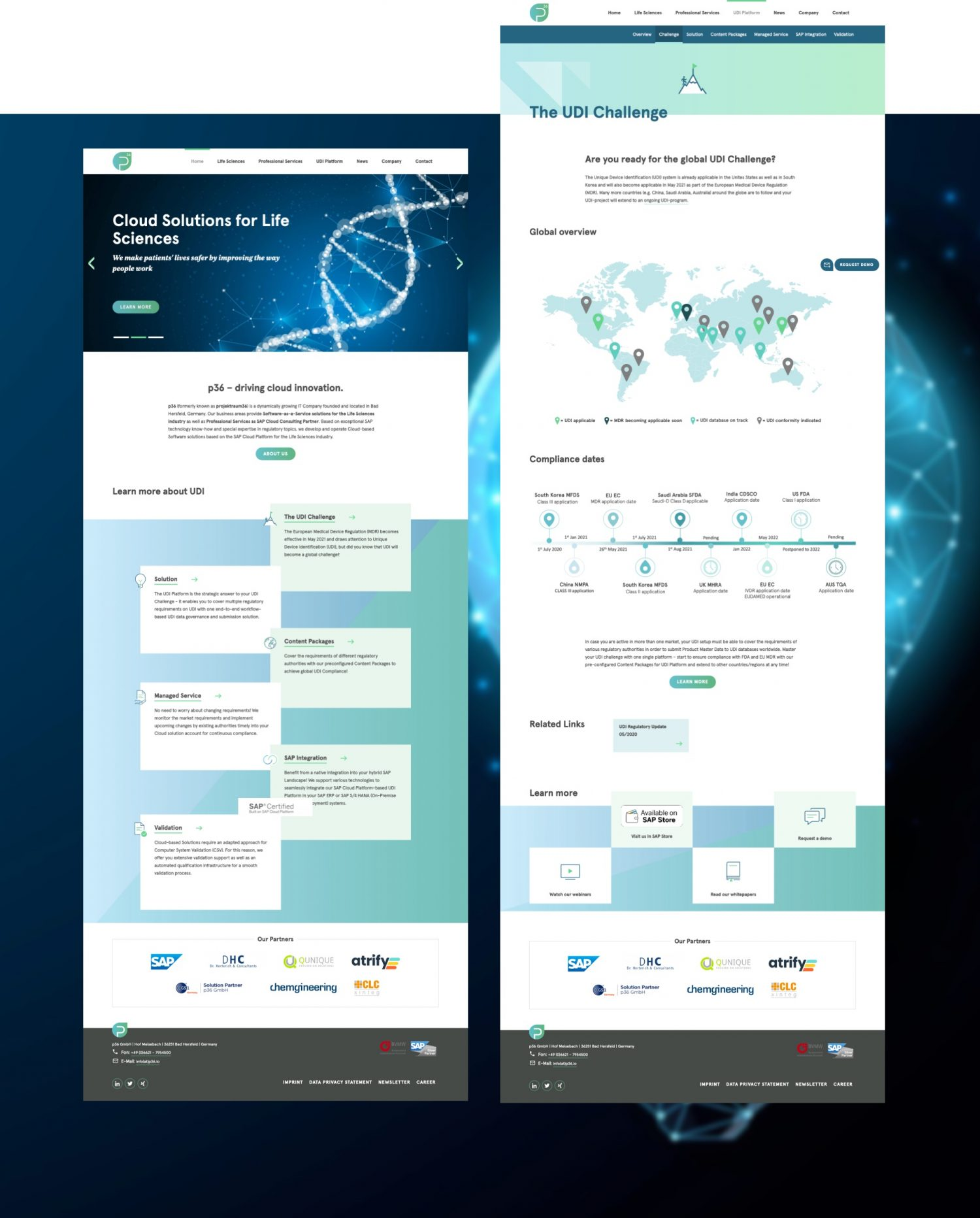 p36 SAP Beratung Website Design und User Interface