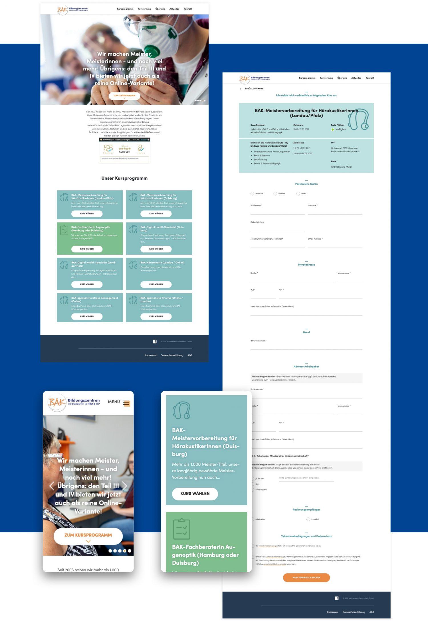 BAK Bildungszentren Web- und User-Interface-Design