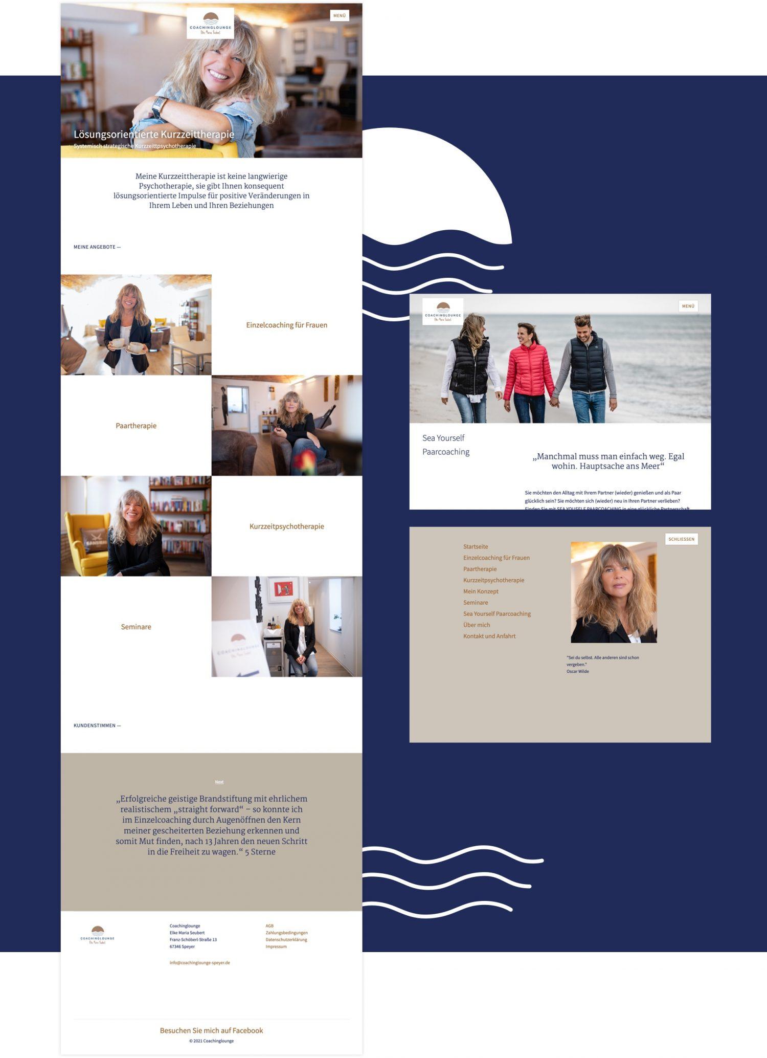 Coaching Lounge Web Design und Umsetzung