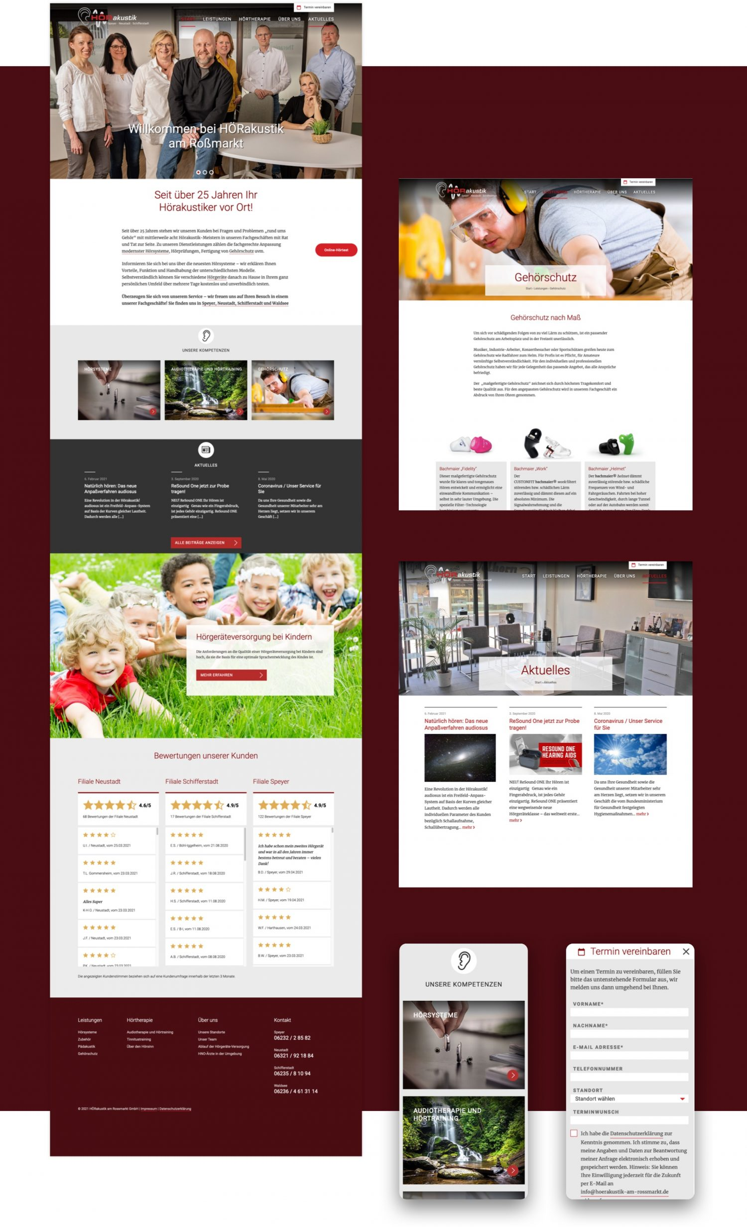 Webdesign für Hoerakustik am Rossmarkt in Speyer